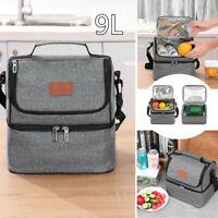 Thermal Insulated Two-deck Lunch Bag Cooler Picnic Storage Box Tote Portable Kit