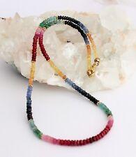 Rubin zafiro esmeralda collar de piedras preciosas cadena arco iris cadena collar multicolor-Color