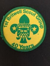 U K Scout Badge. 1st Britwell Scout Group 40 Year Anniversary.