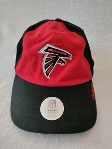 Atlanta Falcons NFL Team Apparel Womens Sequin Logo Strapback Hat Cap NWOT