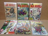 Sea Devils Six Book Silver Age Lot  FREE SHIPPING!!