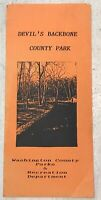 Vintage Devil's Backbone Washington County Park Maryland Brochure