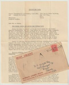 1950 Advertising Letter for Intelligence Digest - Russian Atomic Plans
