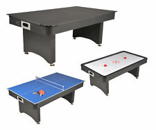 Table de Jeux 3 en 1 Air Hockey, Ping Pong et convertible Table dînatoire
