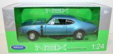 Welly NEX 1/24 Scale 24024W - 1968 Oldsmobile 442 - Blue