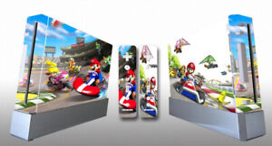 MARIO KART Nintendo Wii Vinyl Skin STICKER Protector for Console & 2 Controllers