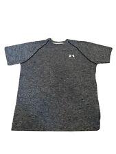 Mens Under Armour Heat gear Running Fitness Workout Grey Marl T-shirt  M