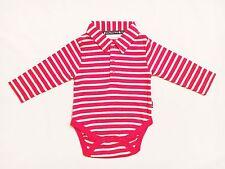 jojo maman bebe Berton L/S Poloshirt Body Red/Ecru Stripe 3-6 Mths