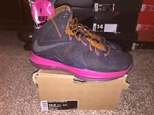 DS Nike Lebron X Ext Denim QS Size 10.5