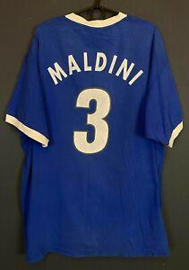 VINTAGE MENS NIKE ITALY 1996 MALDINI ITALIA SOCCER FOOTBALL SHIRT JERSEY SIZE XL