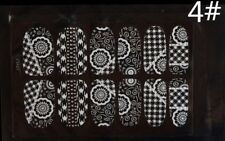 3D Lace Nail Art Tips Sticker Decal Full Wraps Glitters DIY Decoration as a gift