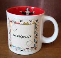 Hasbro Gaming Monopoly 20 oz. Ceramic Coffee Mug Board Game Gift Fun NWOT