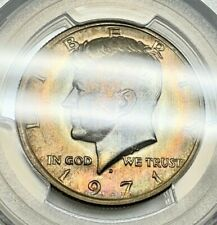 1971 D Kennedy Half Dollar PCGS MS65 TONED Uncirculated Registry Coin