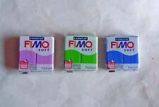 FIMO soft oven bake clay clay. 3x 57g packs. All different colours.