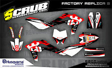 SCRUB Husqvarna TE 125 2009-2013 '09 '13 Grafik Dekor-Set