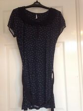 Next Dress UK Size 10 - BNWT! - Peter Pan Collar - Navy Blue - Detachable Belt ✨