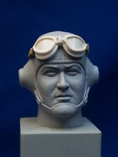 "1:6  RESIN HEAD SCULPT ""PAPPY BOYINGTON"" WWII USMC AVIATOR WITH A-N 6530 GOGGLES"