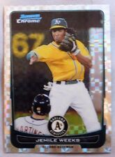 2012 Bowman Chrome Refractor X-Fractor Jemile WEEKS A's #75 Baseball Card