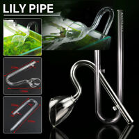 Glass Lily Pipe Inflow + Outflow 13mm 12/16 Planted Aquarium With 2 Suction Cups