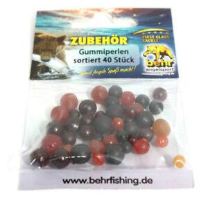 40 Gummiperlen Gummikugeln Karpfenangeln | | Angelzubehör Rubber Pearl Bead Beat