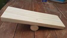 handmade wooden seesaw pet play