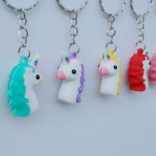 1pcs Cute Unicorn Pendant Keychain Keyring  Bag Charm Hanging Accessory