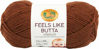 Lion Brand Feels Like Butta Yarn-Brown