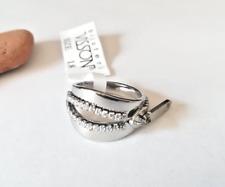 Anello da Donna in Acciaio Inox Cerniera Zip Influencer Argentato Dorato Zirconi