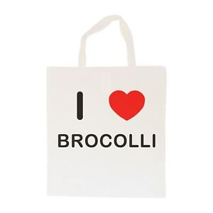 I Love Brocolli - Cotton Bag   Size choice Tote, Shopper or Sling