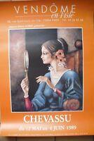 affiche  de peintre  de  galerie  de  chevassu