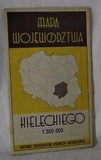 Mapa Wojewodztwa Kieleckiego Map Poland Kielce Province Country Polish City 1967