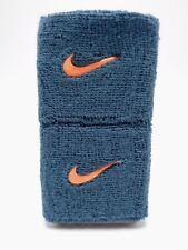 "Nike Swoosh Wristbands Night Factor/Bright Mandarin 3"" Men's Women's"