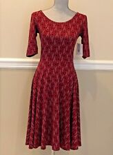 LulaRoe Nicole Dress Diamond/Arrow Print Pattern Size S - NWT retail $48