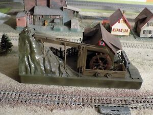 FALLER, WWII MILITARY THEME WATERMILL HAND PAINTED, SCALE HO