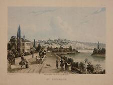 Vue de Saint Germain en laye yvelnes Estampe Martens, chez Rittner et Goupil