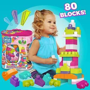 Mega Bloks Big Building Bag Classic Large Size Lego Blocks Toddler Kid 80 Piece