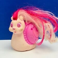 Keypers Tonka vtg toy rubber animal coin bank 1980s hair pink Pearl Snail keeper