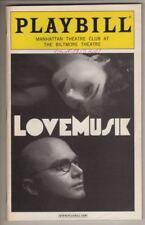 """Michael Cerveris & Donna Murphy   Playbill  """"Lovemusik""""   2007   Kurt Weill"""