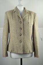g Leana London rich wool tweed 1980s blazer size 40 UK12