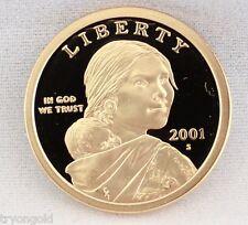 2001 S Proof Deep Cameo (DCAM) Native American Sacagawea Golden $1 Dollar