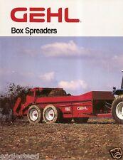 Farm Equipment Brochure - Gehl - MS1177 et al - Box Spreaders - 1997 (F1134)