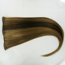 extensions à clips peruk cheveux  châtain cuivré méché blond clair ref: 6bt27b