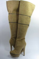 MICHAEL ANTONIO STUDIO WOMEN'S HAMMER OVER-THE-KNEE ZIP-OFF BOOT TAN US SIZE 7 M