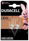Duracell Knopfzellenbatterie LR43 301 386 AG12 183 , 2er Pack