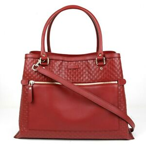 New Gucci Red Micro Guccissima Leather Large Shoulder Bag 510290 6420