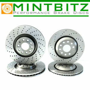 FOR SEAT LEON 2.0 SC, ST CUPRA 2014- FRONT & REAR DRILLED BRAKE DISCS
