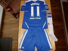 Chelsea Football Shirt Soccer Jersey Drogba 2011/12 UEFA CL Kit Completo di grandi dimensioni