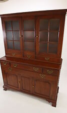 Willett Wildwood Solid Cherry China Cabinet Hutch 2-Piece Sideboard Buffet