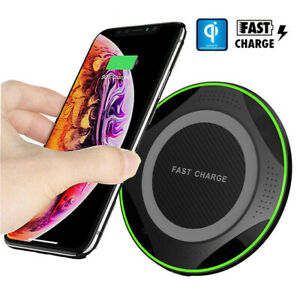 10W Wireless Fast Charging Pad For Samsung Huawei P30 Pro Cordless Charger Mat