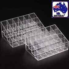 2Pcs Makeup Nail Polish Storage  Rack Acrylic Display Case Stand Hold WDIS007x2